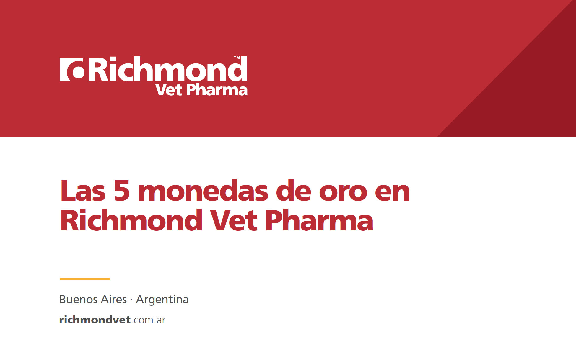 5 Monedas de Richmond Vet